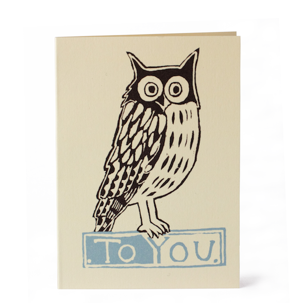 Cambridge Imprint To You Owl (Pack of 6 Cards) - HUEBOW