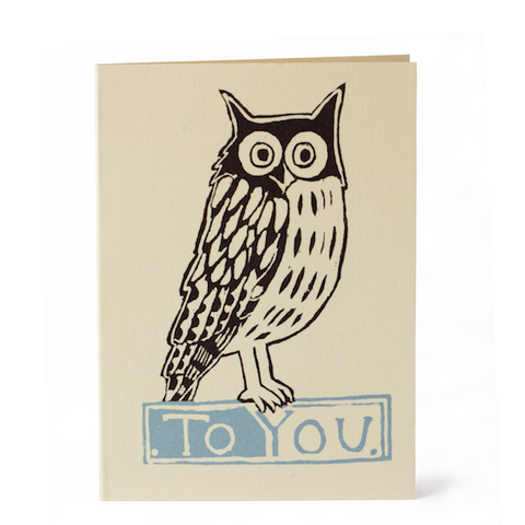 Cambridge Imprint To You Owl (Pack of 6 Cards)