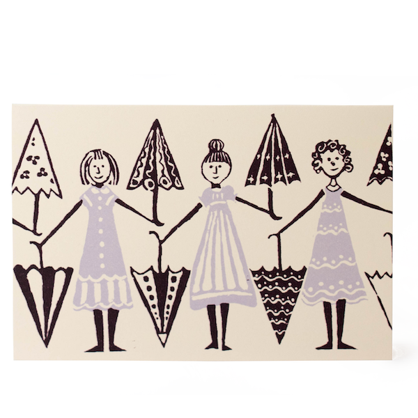 Cambridge Imprint Umbrella Girls Card - HUEBOW