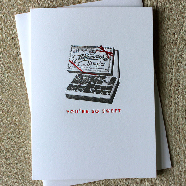 Sesame Letterpress Card 'You're So Sweet' - HUEBOW