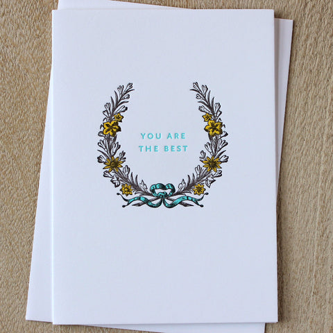 Sesame Letterpress Card 'You are the Best'