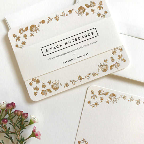 Bespoke Letterpress Small Note Cards Social Stationery - HUEBOW