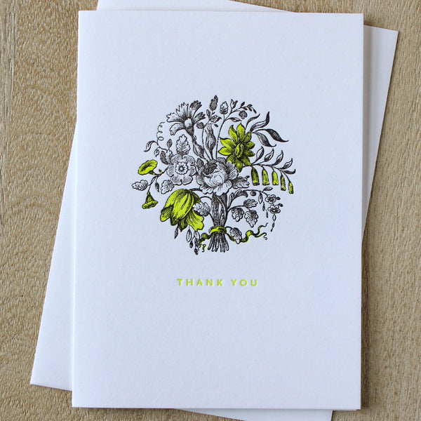 Sesame Letterpress Thank You Card - HUEBOW