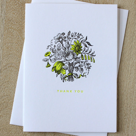 Sesame Letterpress Thank You Card