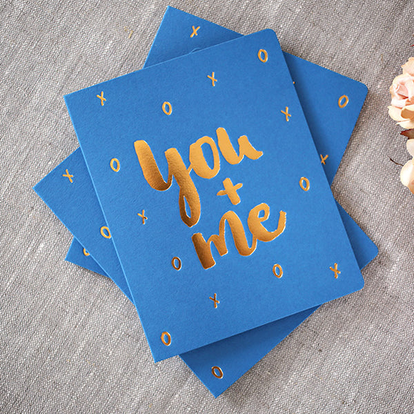 Bespoke Letterpress Card You+Me - HUEBOW