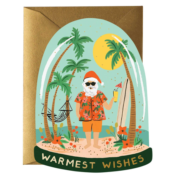 Rifle Paper Co. Warmest Wishes Christmas Card - HUEBOW