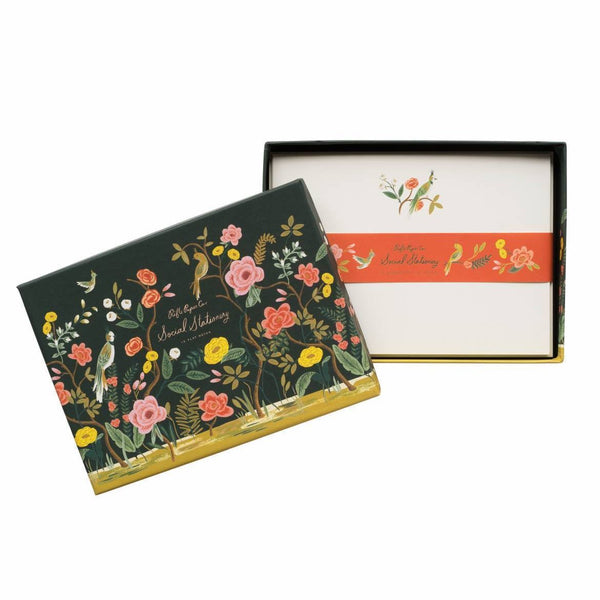 Rifle Paper Co. Shanghai Garden Social Stationery - HUEBOW
