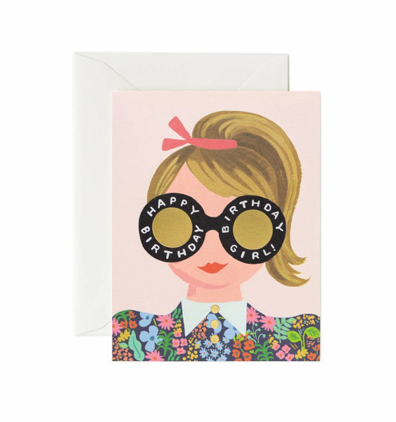 Rifle Paper Co. Meadow Birthday Girl Card - HUEBOW