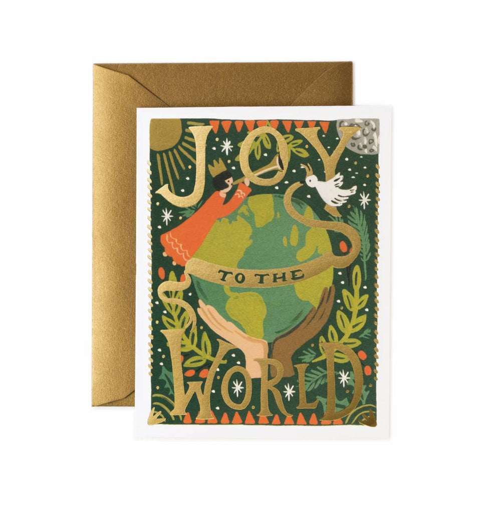 Rifle Paper Co. Joy To The World Christmas Card - HUEBOW