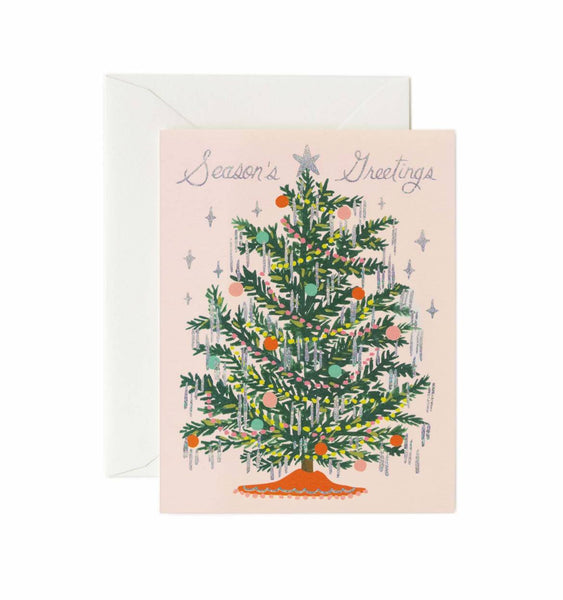 Rifle Paper Co. Tinsel Tree Christmas Card - HUEBOW
