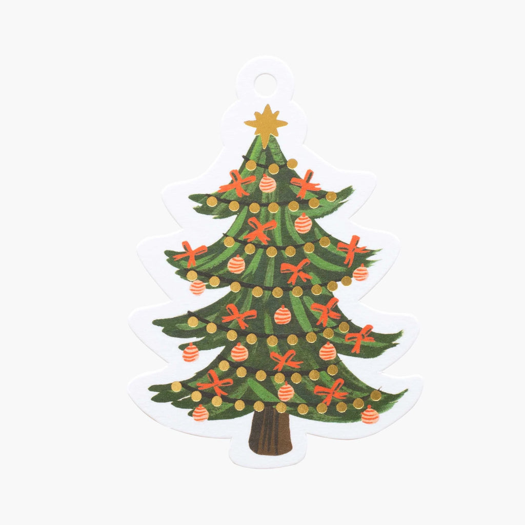 Rifle Paper Co. Christmas Tree Die-cut Gift Tags (a pack of 8)