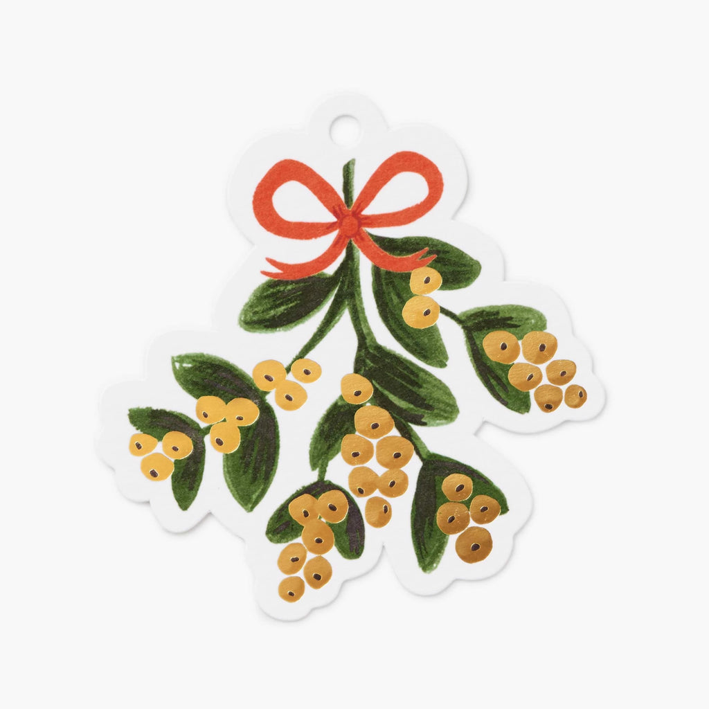 Rifle Paper Co. Mistletoe Die-cut Gift Tags (a pack of 8)