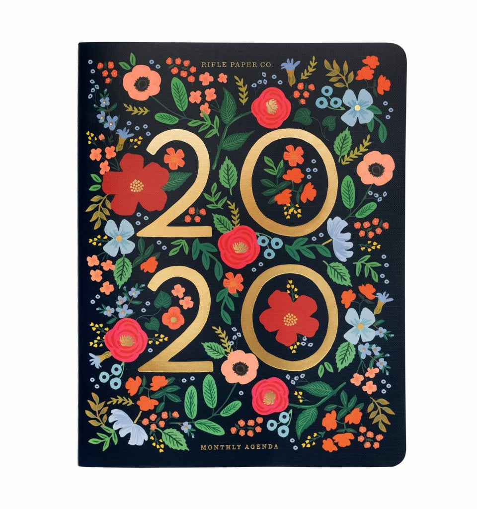 Rifle Paper Co. 2020 Wild Rose Stitched Appointment Notebook Planner