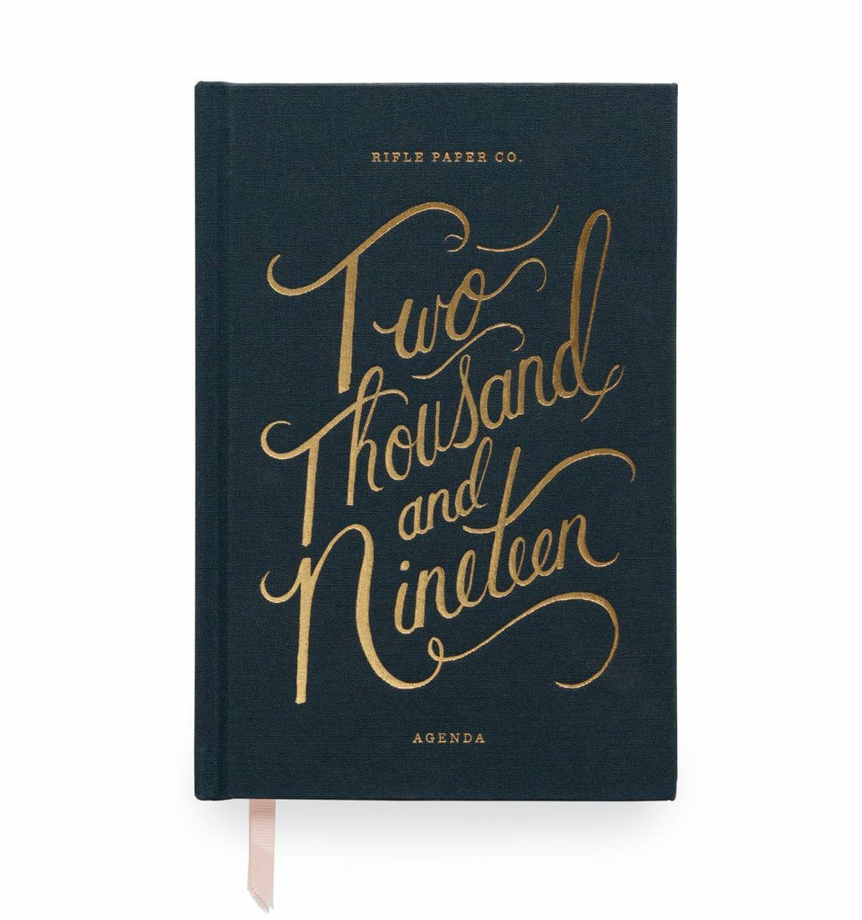 Rifle Paper Co. 2019 Navy 12-Month Agenda - HUEBOW