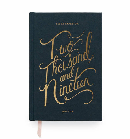 Rifle Paper Co. 2019 Navy 12-Month Agenda