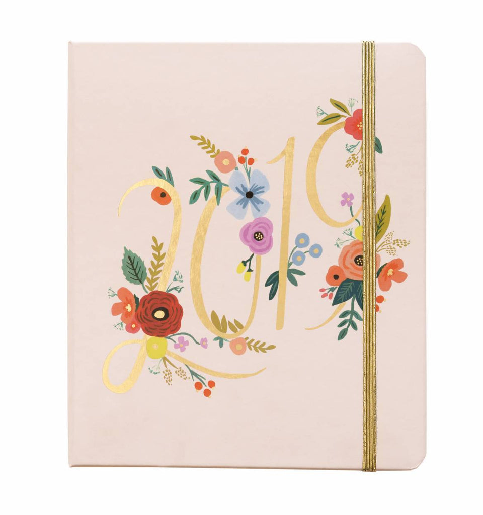 Rifle Paper Co. 2019 Bouquet Everyday 17-Month Planner - HUEBOW