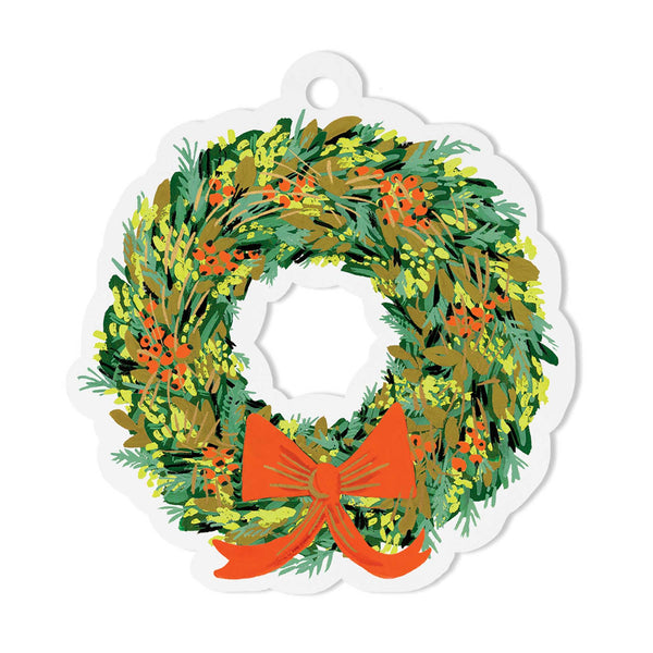Rifle Paper Co. Wreath Die-cut  Gift Tags (a pack of 8) - HUEBOW