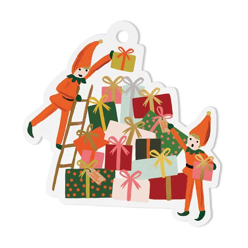 Rifle Paper Co. Elves Die-cut  Gift Tags (a pack of 8) - HUEBOW