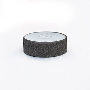 Bespoke Letterpress Glitter Washi Tape Charcoal - HUEBOW