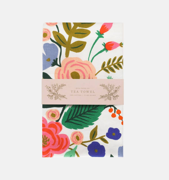 Rifle Paper Co. Floral Vines Tea Towel - HUEBOW