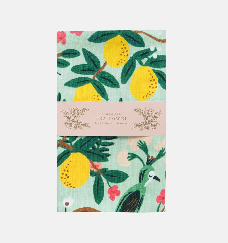 Rifle Paper Co. Shanghai Garden Tea Towel - HUEBOW
