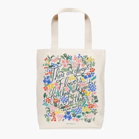 Rifle Paper Co. Seeing Flowers Tote Bag