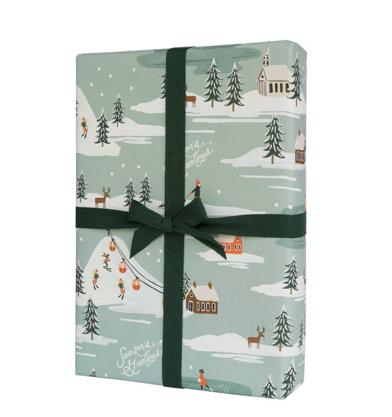 Rifle Paper Co. Holiday Snow Scene Christmas Wrap - HUEBOW