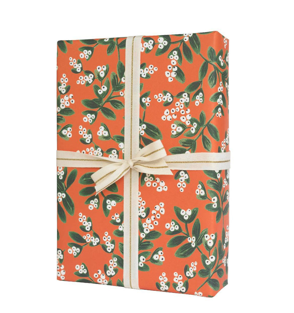 Rifle Paper Co. Mistletoe Christmas Wrap - HUEBOW