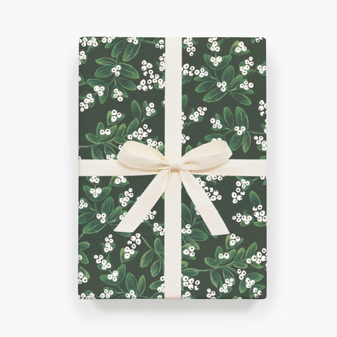 Rifle Paper Co. Evergreen Mistletoe Christmas Wrap