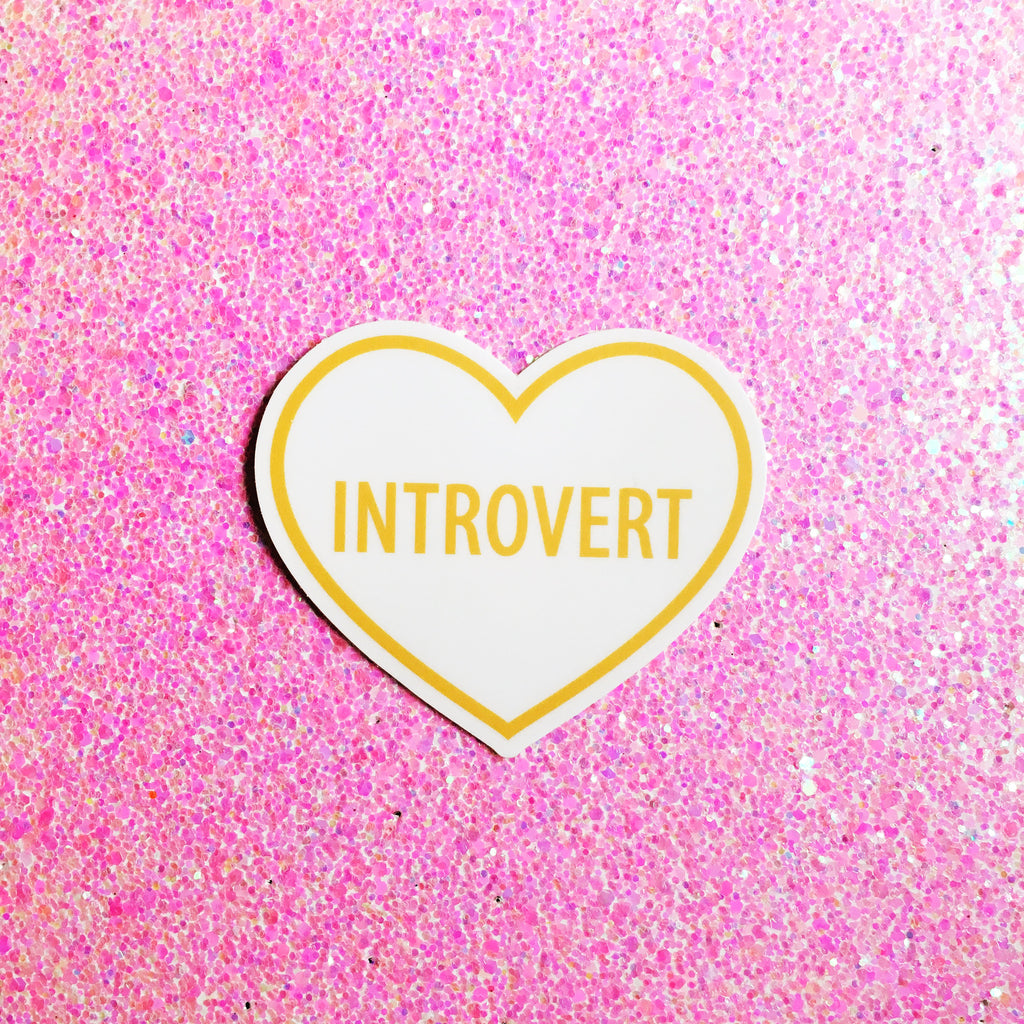 Introvert Heart Sticker