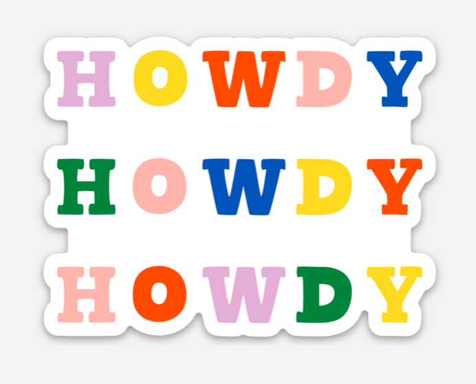 Howdy Rainbow Sticker