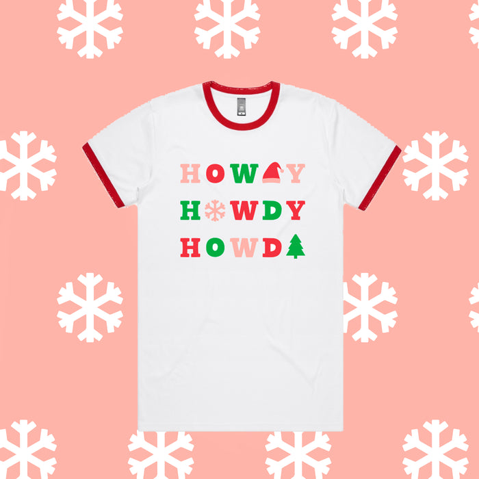 PREORDER Christmas Howdy Ringer Tee