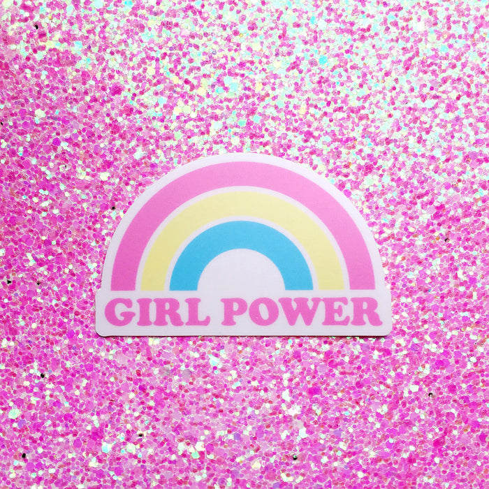Girl Power Rainbow Sticker