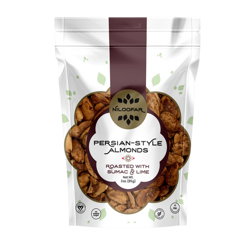 Persian-Style Almonds with Sumac & Lime - 3 OZ