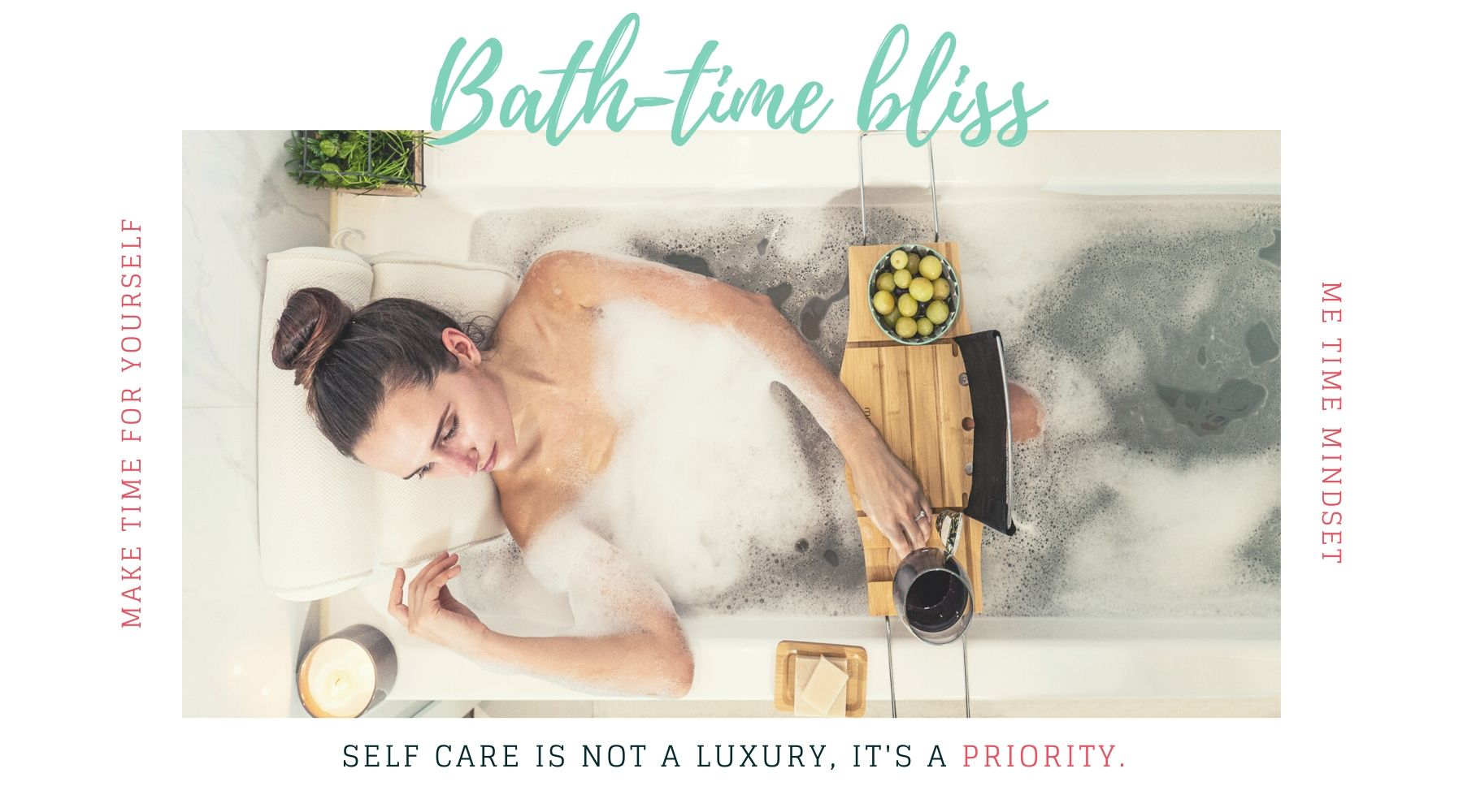 Luxury Bath Tub Products in a Bubble Bath - Bath Gifts for Women