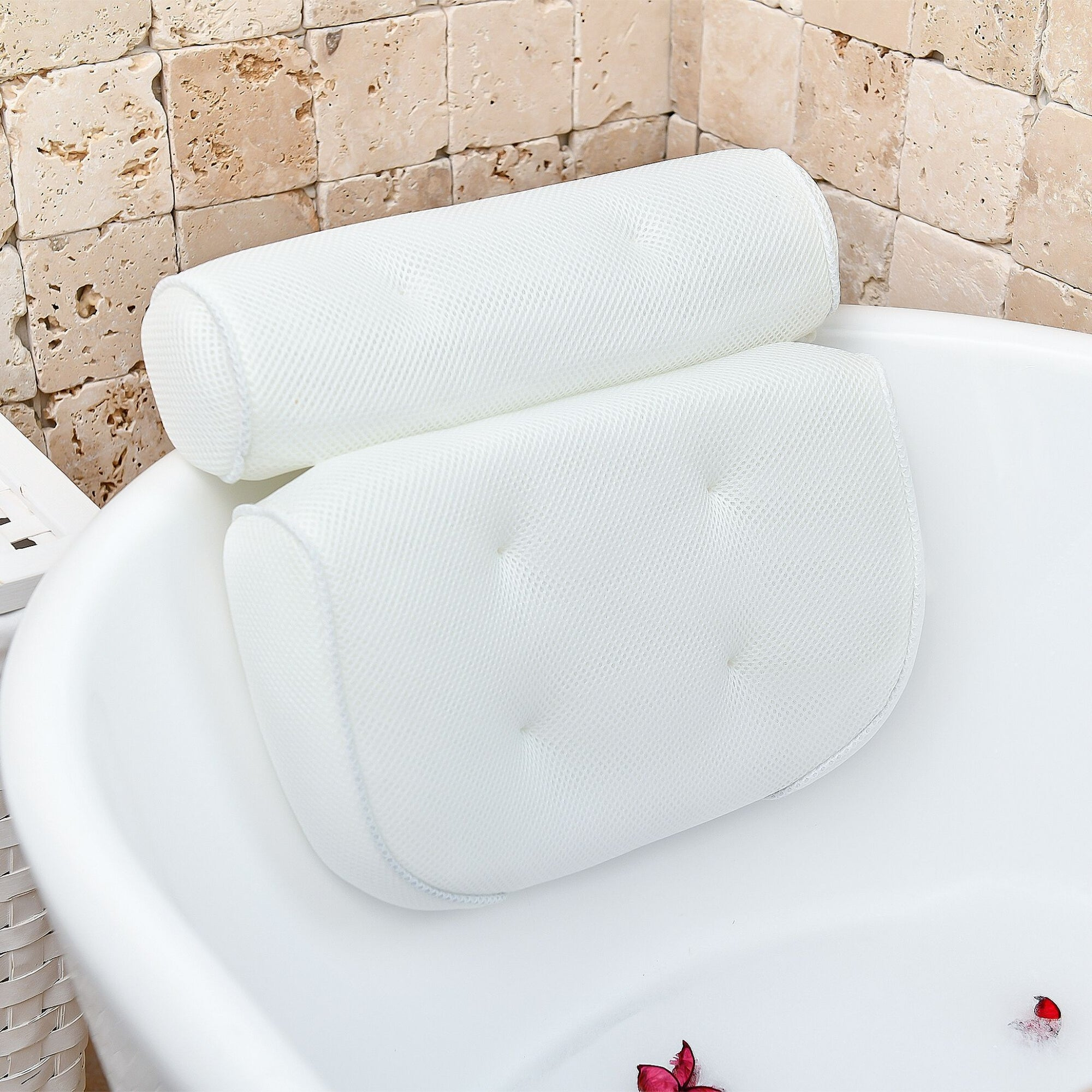 Luxury at home spa bath pillow for tub