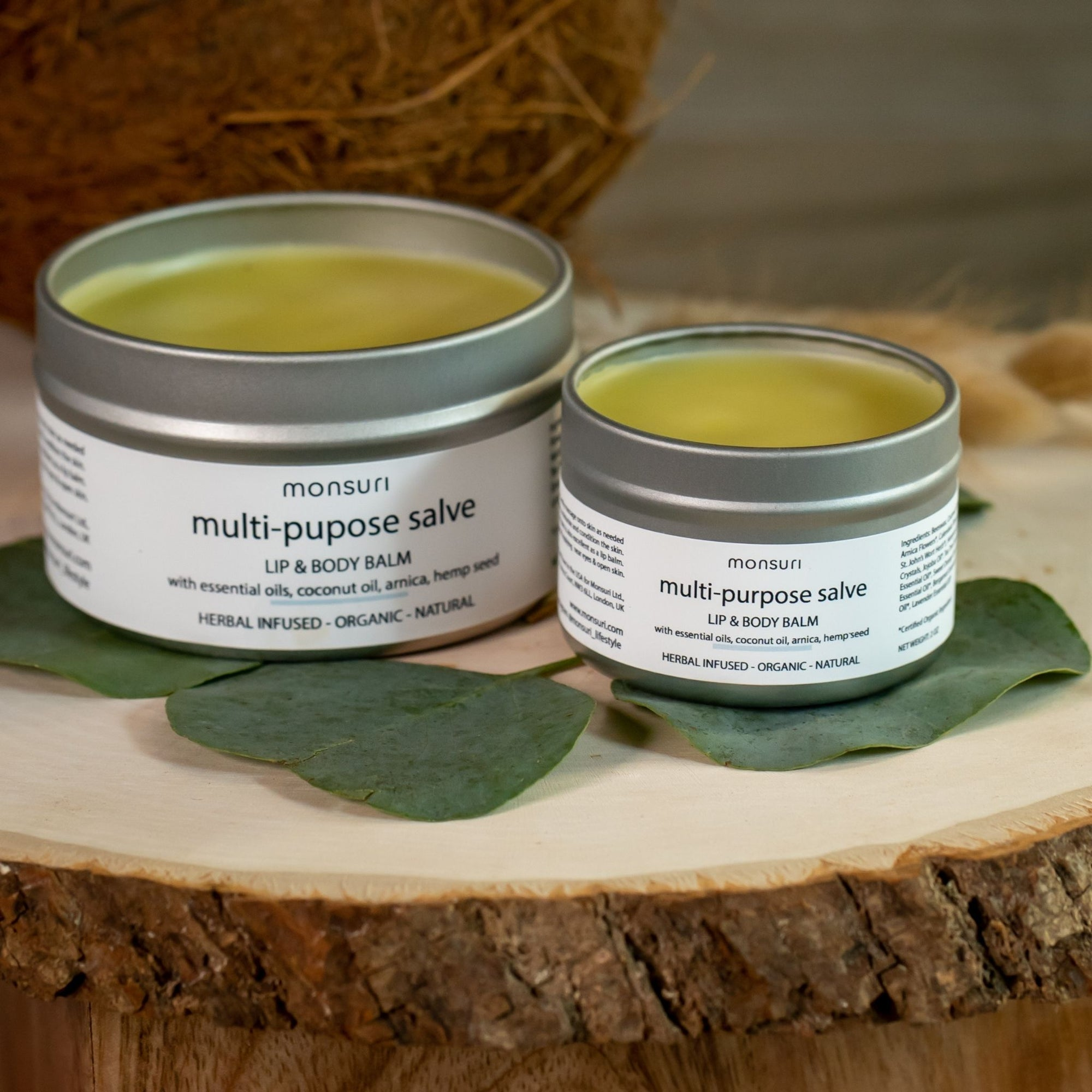 Natural Body Balm Lip Care products: 2oz Body Moisturizer Salve for Dry Skin, Thigh Anti Chafing Protection, Cracked Feet.