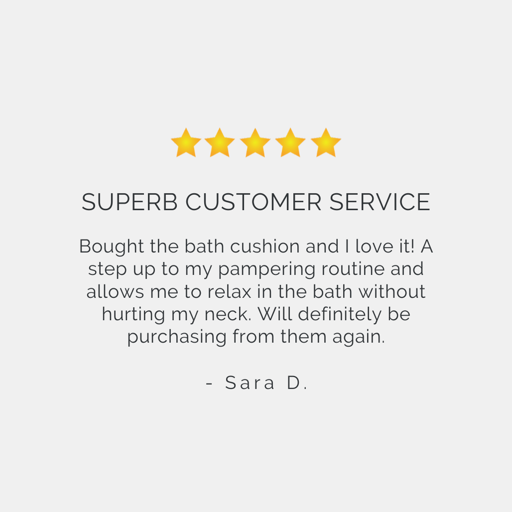 Best Bath Pillow for Tub Reviews | Monsuri Review Customer Testimonial 1