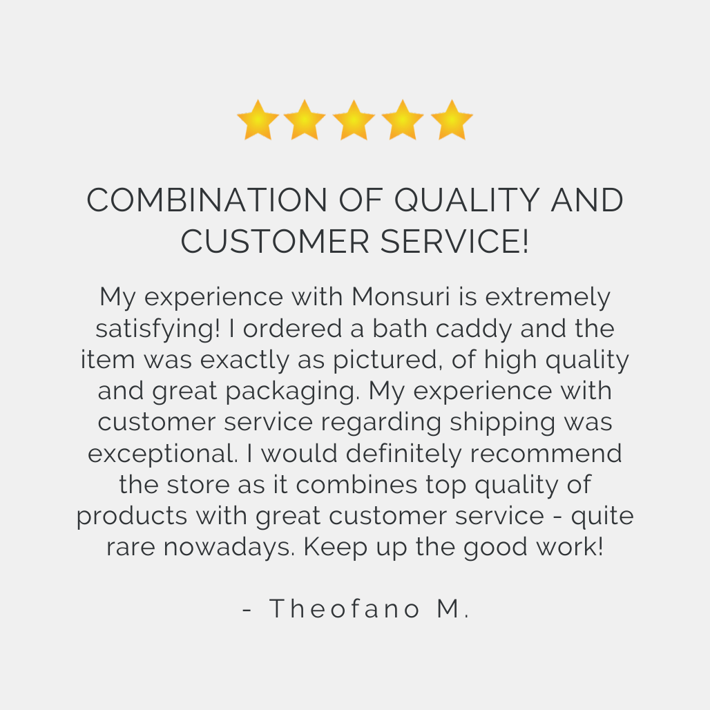 Best Bathtub Tray for Tub Reviews | Monsuri Review Customer Testimonial 3
