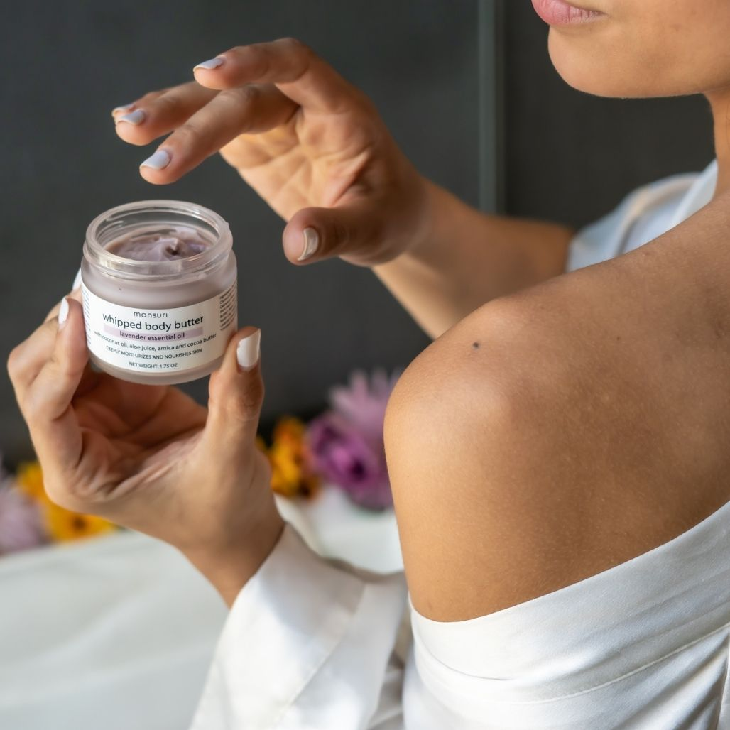 Lavender Body Butter for Women Moisturization. Skin Care Products for Self-Care.