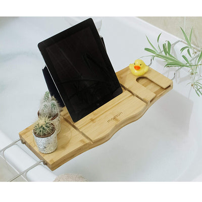 Bath tray to hold your tablets and other bath accessories.