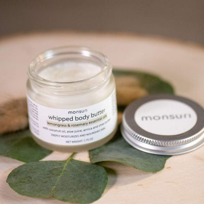 Herbal-Infused Whipped Body Butter with Lemongrass & Rosemary Essential Oils for Deep Moisturizing for your Skin