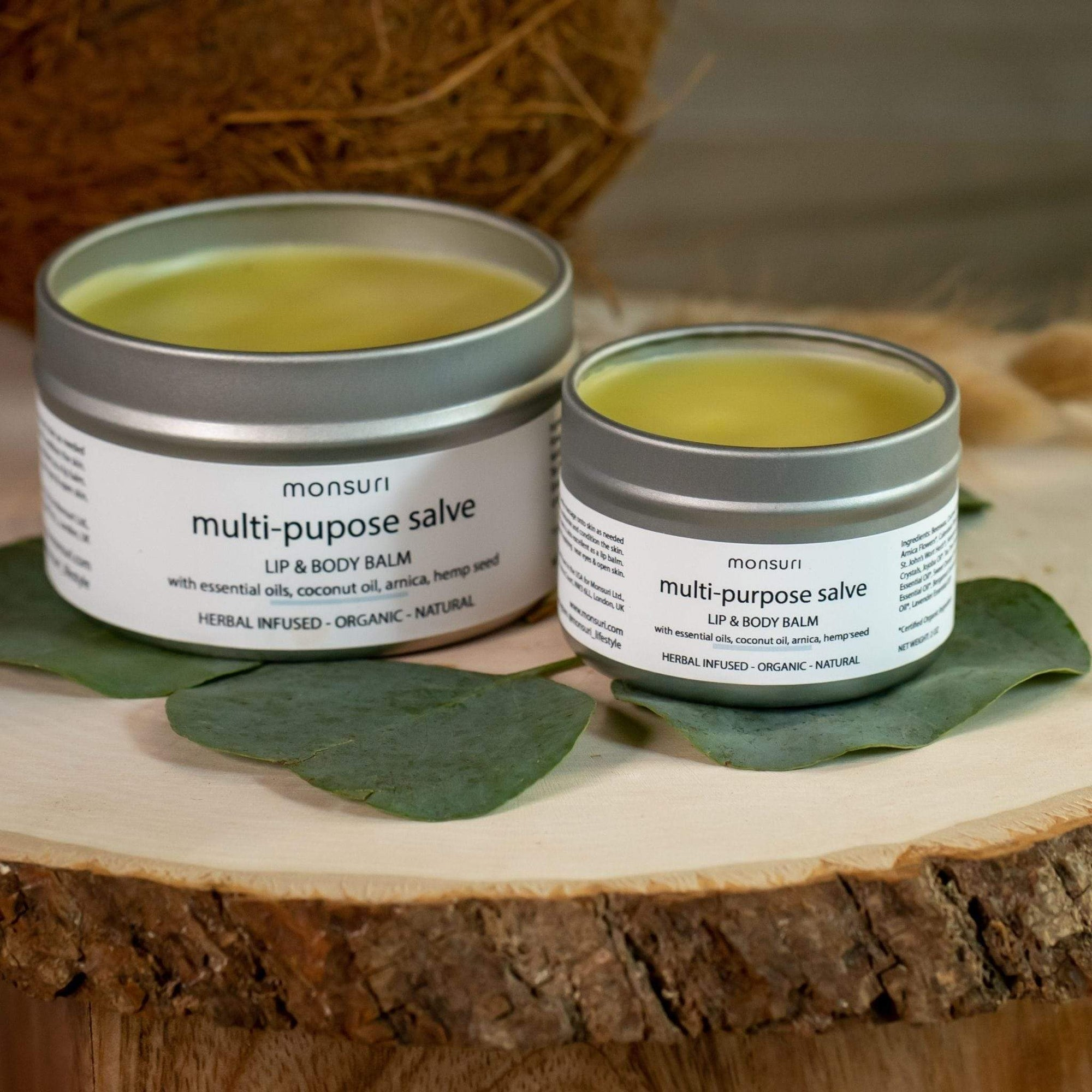 Lip & Body Balm for Women - Infused with Herbals, Organic Essential Oils, Coconut, Arnica and Hemp Seed.