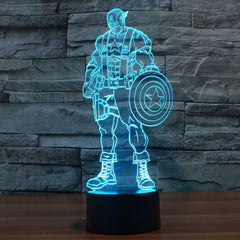 3D LED CAPTAIN AMERICA TABLE LAMP/NIGHT LIGHT