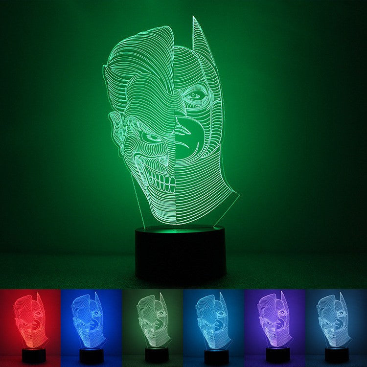 3D LED TWO FACE TABLE LAMP/NIGHT LIGHT