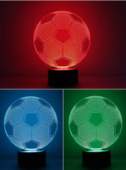 3D LED SOCCER TABLE LAMP/NIGHT LIGHT