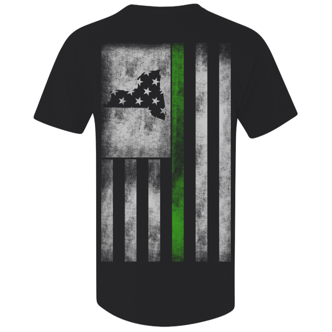 New York Thin Green Line - Next Level Men's Premium Fitted SS Vneck