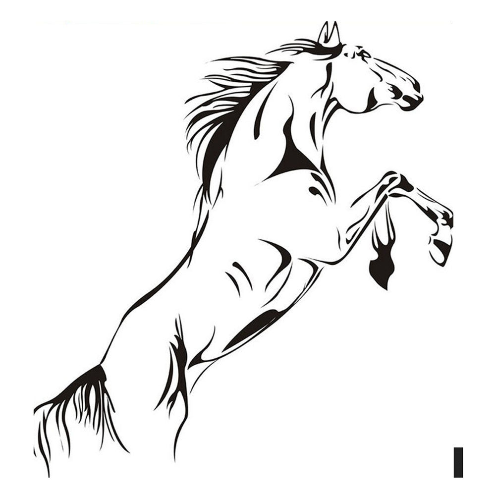 Jumping Horse Wall Art Sticker