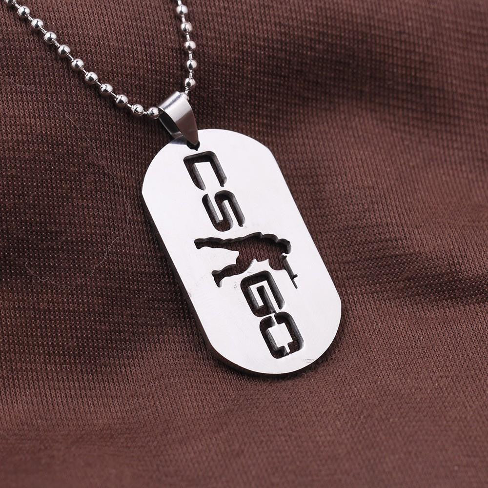 Counter Strike Name Dog Tag Necklace