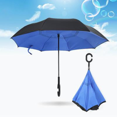 Double Layer Inverted Inverted Umbrella Is Light And Sturdy Squirrel Eat Bread Reverse Umbrella And Windproof Umbrella Edge Night Reflection
